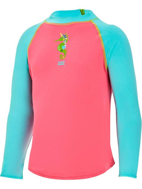 Zoggs Sea Unicorn Sun Badpak Kinderen roze/turquoise